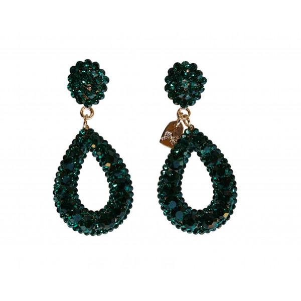 Giuliett Dona Czech Crystal Emerald Green-193814-31