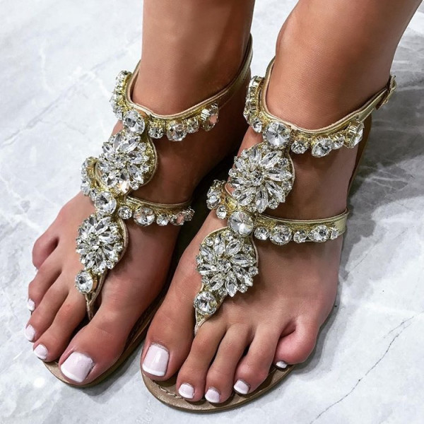 Kryštálové sandálky Milano silver