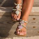 Kryštálové sandálky Milano