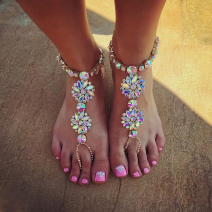 Kryštálové ozdoby na nohu-134059-20