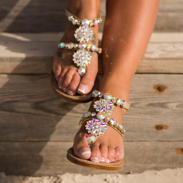 Kryštálové sandálky Milano-111472-20